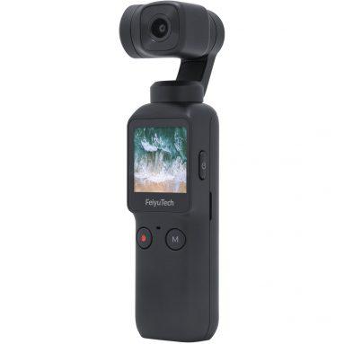 167 € z kuponem na kieszonkowy 6-osiowy stabilizowany ręczny aparat kardanowy Feiyu 120 ° Ultra-szeroki kąt obiektywu Nagrywanie wideo 4K / 60fps Ekran dotykowy TOMTOP