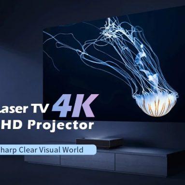 1419 € s kupónom pre [Nová verzia] Fengmi 4K kino laserový projektor 2500 ANSI lúmenov 150 palcov ALPD 4K 3D BT 4.0 MIUI TV Xiaomi projektor z EU CZ Sklad BANGGOOD
