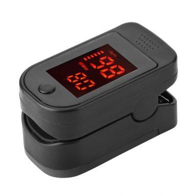11 євро з купоном на пальцевий імпульсний оксиметр світлодіодний цифровий дисплей для вимірювання пульсу, відділення насичення крові киснем, моніторинг домашнього медичного обслуговування від TOMTOP