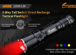€35 with coupon for Fitorch MR26 1800lm Waterproof LED Flashlight – BLACK from BANGGOOD