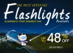 Flashlights 48% OFF + Free Shipping from DealExtreme