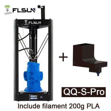 254 € cu cupon pentru imprimantă 3D FLSUN QQ-S-Pro Delta Φ255 * Dimensiune mare de imprimare 360mm Imprimare silențioasă din depozitul EU GER TOMTOP