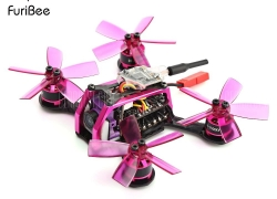 $109 with coupon for FuriBee GT 90MM Fire Dancer Micro FPV Racing Drone  –  BNF WITH FRSKY RECEIVER  COLORMIX from GearBest