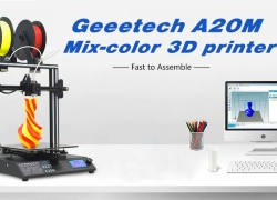 $329 with coupon for GEEETECH A20M Mix-color 3D Printer – WHITE EU PLUG from Gearbest