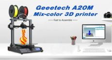$399 with coupon for GEEETECH A20M Mix-color 3D Printer – WHITE EU PLUG from Gearbest