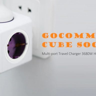 $7 with coupon for GOCOMMA 1100 Cube Socket 5 EU Plug – Green from GEARBEST