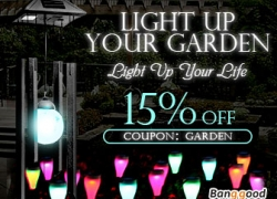 15% OFF for Garden Light New Arrival Promotion! from BANGGOOD TECHNOLOGY CO., LIMITED