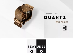$0.99 with coupon for Gear Geometric Steel Band Quartz Watch – BLACK from GearBest