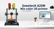 €299 with coupon for Geeetech® A20M Mix-color 3D Printer EU CZ WAREHOUSE from BANGGOOD