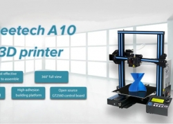 €155 with coupon for Geeetech A10 Quickly Assemble 3D Printer 220 x 220 x 260mm – BLACK EU PLUG from Gearbest