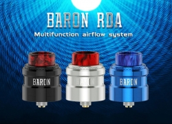 $19 with coupon for Geekvape Baron RDA with Bottom Filling – SILVER from GearBest