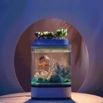€ 31 com cupom para Geometry Mini Fish Tank USB de carregamento automático Aquário com 7 cores Luz LED para decoração de casa de Xiaomi Youpin de BANGGOOD