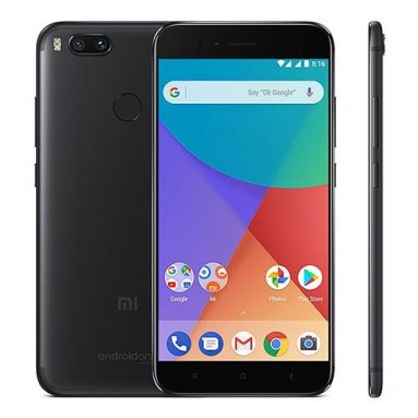 €129 with coupon for Xiaomi Mi A1 Global Version – 4GB RAM 64GB ROM 4G Black Smartphone from BANGGOOD