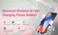 $6 with coupon for Gocomma 10W QI Wireless Fast Charger Car Mount Holder from GEARBEST