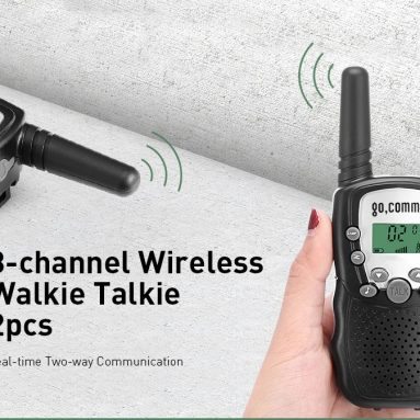 $10 with coupon for Gocomma 8-channel 2-way Radio Walkie Talkie 2PCS – BLACK from GearBest