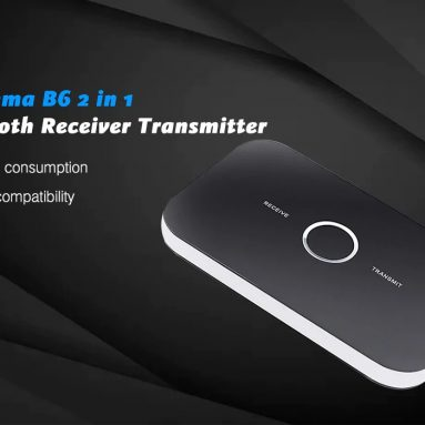 $9 with coupon for Gocomma B6 2 in 1 Bluetooth Receiver Transmitter from GearBest