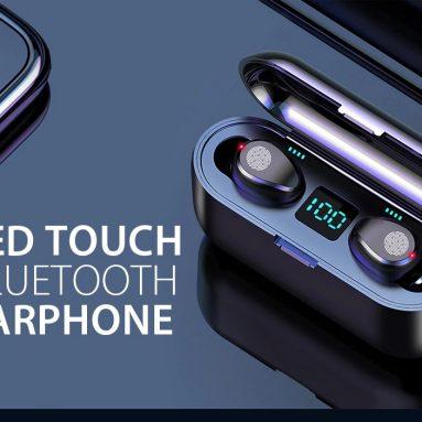 € 14 với phiếu giảm giá cho Tai nghe không dây Gocomma F9 Tai nghe không dây Bluetooth V5.0 Màn hình LED với Ngân hàng sạc điện và micrô từ GEARBEST