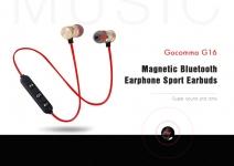 $ 2 mit Gutschein für Gocomma G16 Magnetische Bluetooth-Sport-Ohrhörer - Rot von GEARBEST