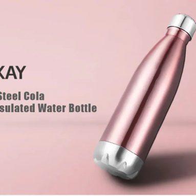 $ КСНУМКС са купоном за боцу за воду изолована од нехрђајућег челика из нехрђајућег челика Цола Стиле КСНУМКСмл - Росе Голд од ГЕАРБЕСТ