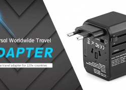 $13 with coupon for Gocomma Universal Global Travel Power Adapter – Gray from GEARBEST