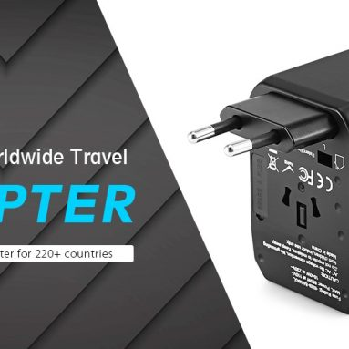 $ 9 med kupon til Gocomma Universal Global Travel Power Adapter - Grå fra GEARBEST