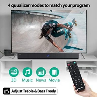 $ 59 kasama ang kupon para sa GooDee 30-Inch Home Theatre 60 Watt Sound bar para sa TV, 2.0 Channel Bluetooth 5.2 Wireless Audio Speaker
