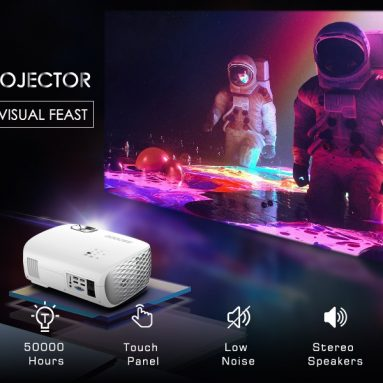 179 $ με κουπόνι για GooDee BL98 Native 1080P HD Video Projector, Touch Keys Home Theater Projector με 50,000 ώρες ζωής