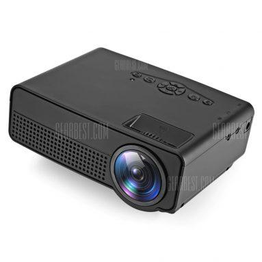 $ 32 với phiếu giảm giá cho máy chiếu LED H100 600 Lumens 480 x 320P Hỗ trợ 800 x 480P - EU PLUG BLACK từ GearBest