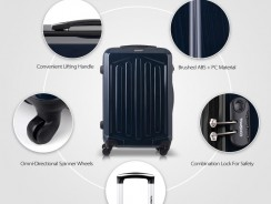16% OFF TOMSHOO Luxury 3PCS Spinner Luggage Set,limited offer $91.99 from TOMTOP Technology Co., Ltd