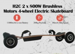 €411 with coupon for H2C 2 x 800W Brushless Motors 4-wheel Electric Skateboard – BLACK US from GearBest