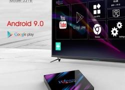 € 33 avec coupon pour H96 MAX RK3318 RAM RAM 4GB 64GB WIFI bluetooth 5 Android 4.0 9.0K VP4 H.9 Boîte de télévision de BANGGOOD