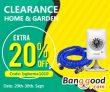 إضافي 20 ٪ للتخليص على المنزل والحديقة من BANGGOOD TECHNOLOGY CO.، LIMITED
