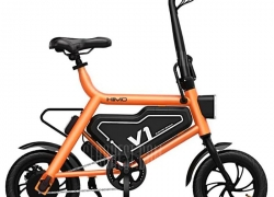 $329 with coupon for Xiaomi HIMO V1S Portable Folding Electric Moped Bicycle Ergonomic Design Multi-mode Riding  – Orange from GEEKBUYING