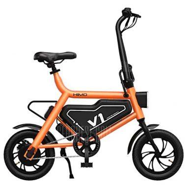 € 453 com cupom para Xiaomi HIMO V1S Bicicleta Ciclomotor Elétrico Dobrável Portátil Design Ergonômico Equitação multimodo - Laranja do armazém da UE