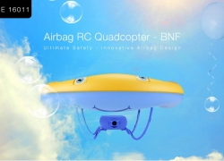 €27 with coupon for HITEHOME 16011 Airbag RC Quadcopter – BNF – BLUE from GearBest