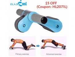 $5 OFF: Blascool MD-ABRW-B Foldable Mute AB Roller Dual Wheels from Focalprice