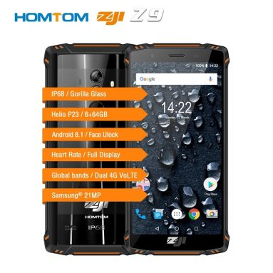 $229 with coupon for HOMTOM ZOJI Z9 4G Cellphone IP68 Waterproof from TOMTOP