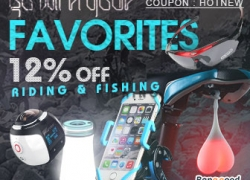 12% OFF for Collection of Sports and Outdoors Stuff from HongKong BangGood network Ltd.