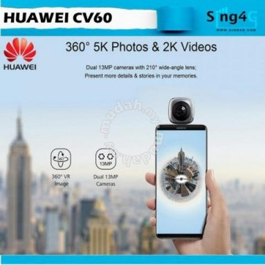€26 with coupon for HUAWEI CV60 Cool Edition Panoramic Camera Lens 360° view for Smartphone from TOMTOP