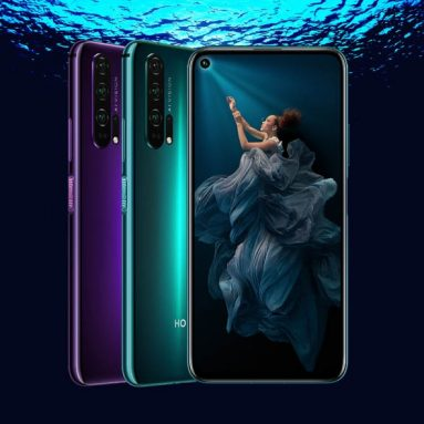 €290 with coupon for HUAWEI HONOR 20 Pro 6.26 inch 48MP Quad Rear Camera NFC 8GB RAM 128GB ROM Kirin 980 Octa core 4G Smartphone from BANGGOOD