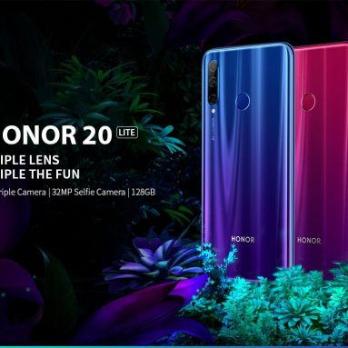 €173 with coupon for HUAWEI Honor 20 Lite 4G Phablet 6.21 inch EMUI 9.0.1 Android 9.0 Kirin 710F Octa Core 4GB RAM 128GB ROM 3 Rear Camera 3400mAh Battery Global Version – Blue from GEARBEST