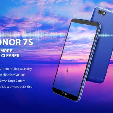 €82 with coupon for HUAWEI Honor 7S 4G Smartphone 5.45 inch Android 8.1 MT6739 Quad Core 2GB RAM 16GB ROM 13.0MP Rear Camera 3020mAh Global Version Support Google – Black from GEARBEST