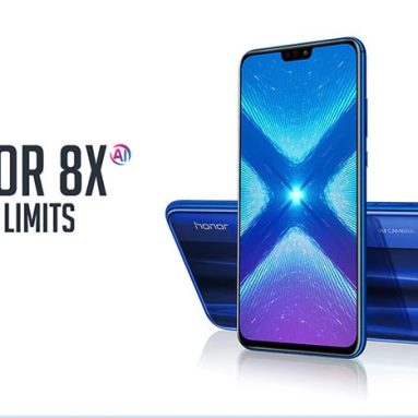 $299 with coupon for HUAWEI Honor 8X 4G Phablet 4GB RAM 128GB ROM Global Version – BLUE from GearBest