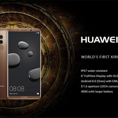 €461 with coupon for HUAWEI Mate 10 Pro 4G Phablet Global Version – GRAY from GearBest