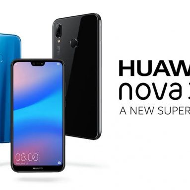 €205 with coupon for HUAWEI Nova 3e ( HUAWEI P20 Lite ) 4G Phablet International Version 4GB RAM 64GB ROM 24.0MP Front Camera Fingerprint Sensor- BLACK from GearBest