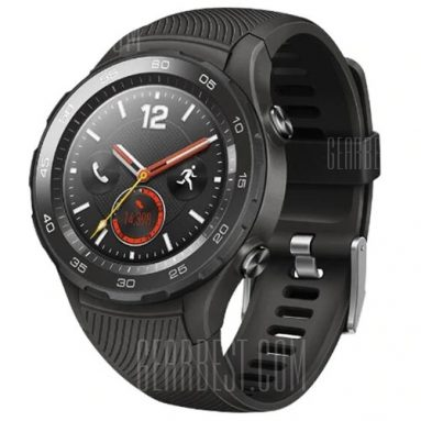 $269 with coupon for HUAWEI WATCH 2 4G Smartwatch Phone Chinese Version – BLACK from GearBest