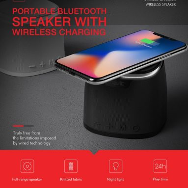 €20 with coupon for Havit M1 Bluetooth Speaker Qi Wireless Charger Mini Heavy Bass Stereo TF Card from GEARVITA