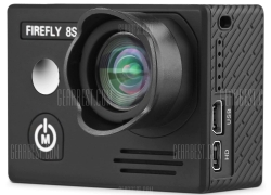 $124 with coupon for HawKeye Firefly 8S 4K Sports Camera No Distortion Version  –  90 DEGREE LENS  BLACK from GearBest