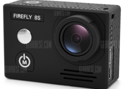 $119 with coupon for HawKeye Firefly 8S 4K WiFi Sports Camera 170 Degree FOV  – 170 DEGREE LENS BLACK from GearBest