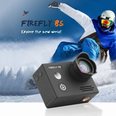 €103 with coupon for Hawkeye Firefly 8S 4K 90° FOV FPV Sport WiFi Camera – No Distortion Version from TOMTOP